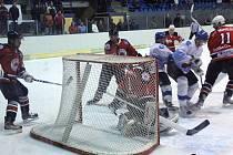 Hokejisté Dynamiters Blansko podlehli v derby boskovické Minervě 2:3.