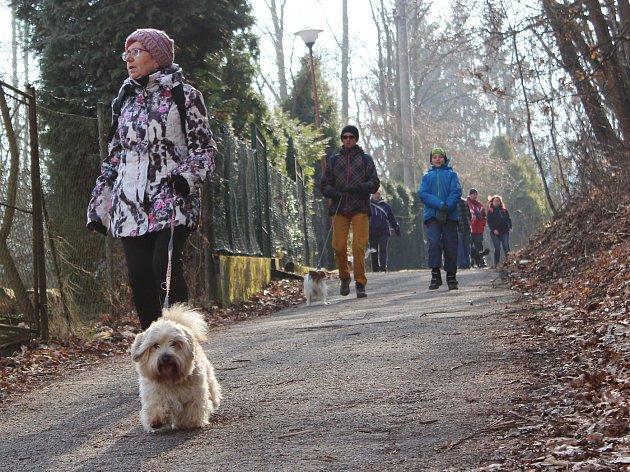 Blanenští pořádali Pochod lesem se psem. Už podvanácté.