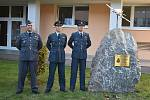 Bývalý člen britského královského letectva Zbyšek Nečas má ve Sloupu pomník. I s maketou stíhačky.