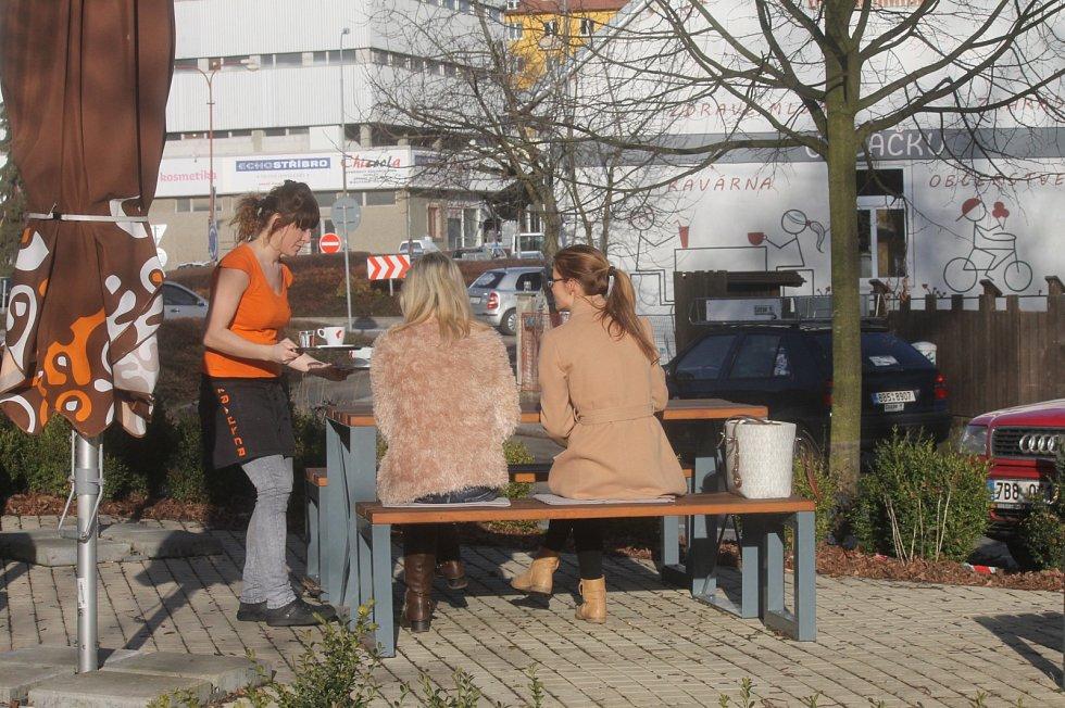 Počasí v pondělí 22. února v Blansku připomínalo jaro.