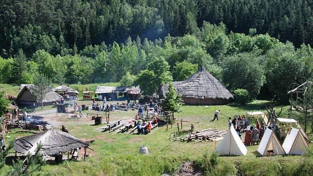 Keltská bitva v letovickém skanzenu Isarno.