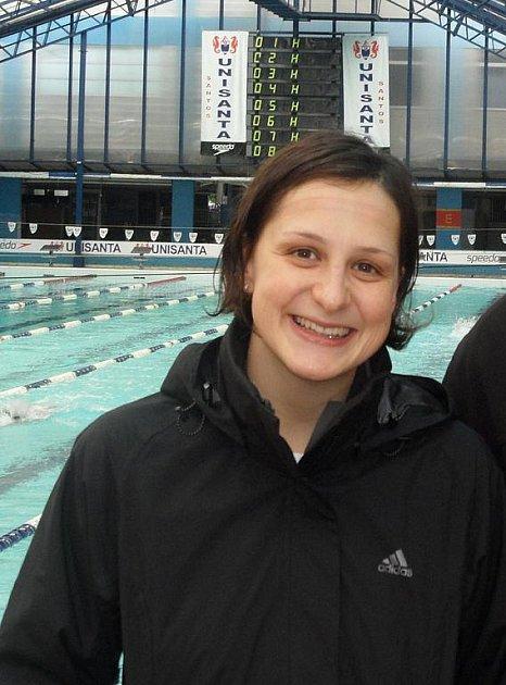 Dálková plavkyně Silvie Rybářová v brazilském Santosu před závodem na deset kilometrů.