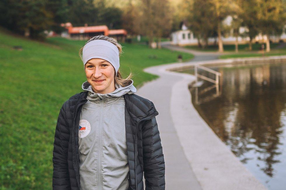 Nadějná blanenská atletka Pavla Štoudková závodí za AK Olymp Brno.