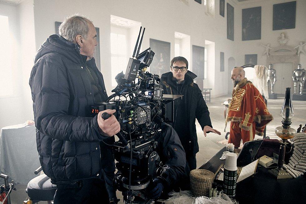 Natáčení scén filmu Poslední aristokratka. Ilustrační foto.