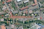 Nový kruhový objezd začne vznikat od pondělí v křižovatce Mlýnské ulice a Poříčí v Blansku.