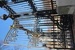 Restaurovaná brána zámku v Rájci nad Svitavou