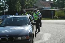 Historicky první společné akce s Policií ČR ve Svitavách zaměřené na kontroly dodržování předpisů na hlavním tahu z Brna do Svitav.
