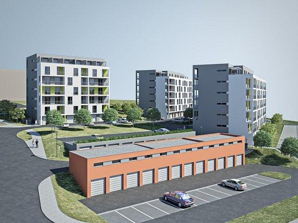 Nové domy na blanenském sídlišti Písečná.