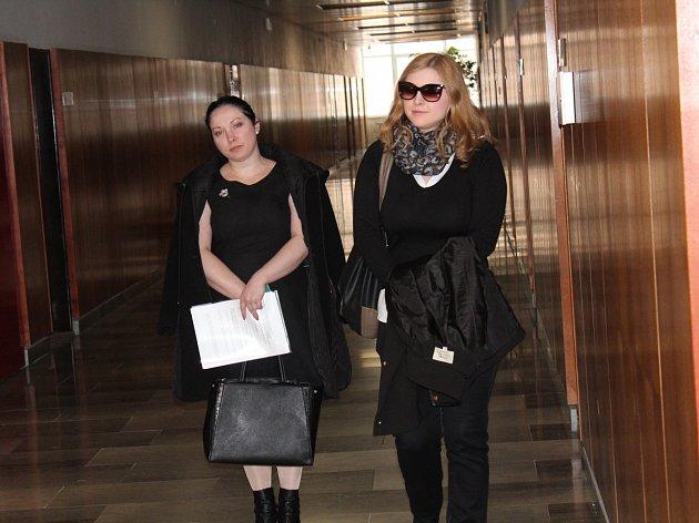 Anžela Jemelková (vlevo) a Khrystyna Chernei.