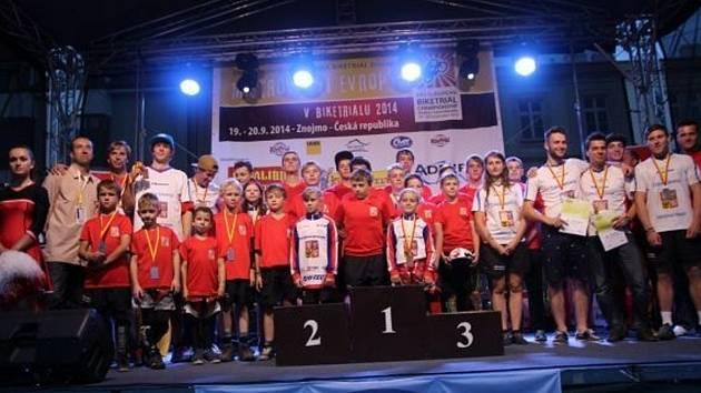 Biketrialová reprezentace na mistrovství Evropy.