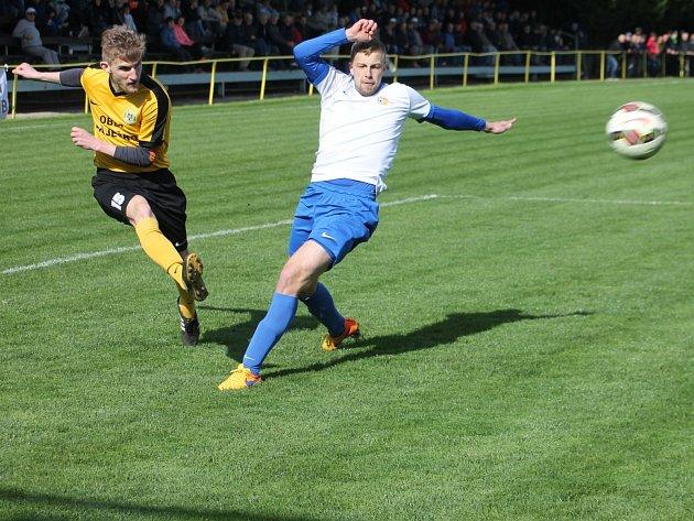 V utkání krajského přeboru podlehli fotbalisté Olympie Ráječko AFK Tišnov 0:2.