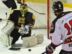 V prvním semifinálovém utkání krajské ligy porazila Minerva Boskovice hokejisty HC Kroměříž 6:5 po prodloužení.