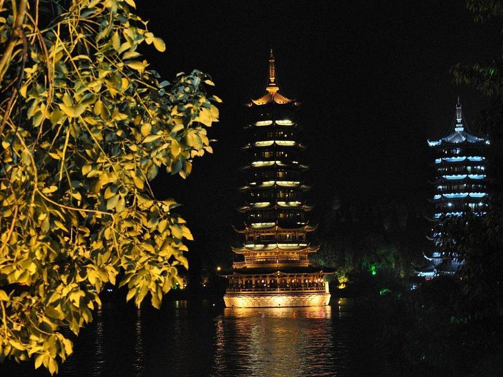 pagody v centru Guilinu