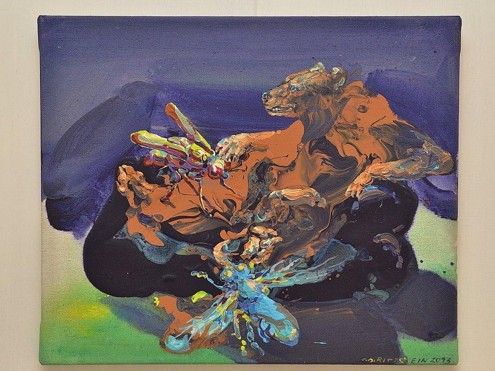 V letovické Galerii Pex vystavuje obrazy Michael Rittstein.