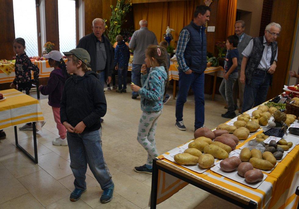 Zahrádkáři uspořádali Podzimní výstavu ovoce, zeleniny a květin.