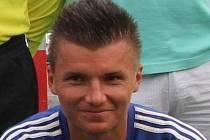 Hráč boskovického Sadrosu Ondřej Paděra.