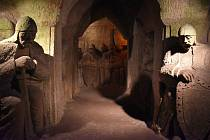 Jeskyně Blanických rytířů v Rudce u Kunštátu. Odkaz vlastence Františka Buriana a sochaře samouka Stanislava Rolínka.