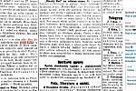 Zpráva o povodni ve Sloupu v Brněnských novinách v roce 1909.
