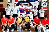 Mistrovství republiky juniorů v kolové v Přerově vyhráli Jan Hrdlička s Janem Kripnerem ze společného týmu SC Svitávka/Praha.