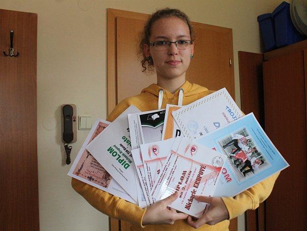 Michaela Krupová získala řadu ocenění v různých soutěžích.