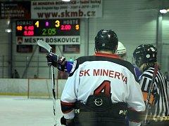 Hokejisté Boskovic prohráli doma druhé utkání semifinále play-off krajské ligy s týmem Warrior Brno 2:4.