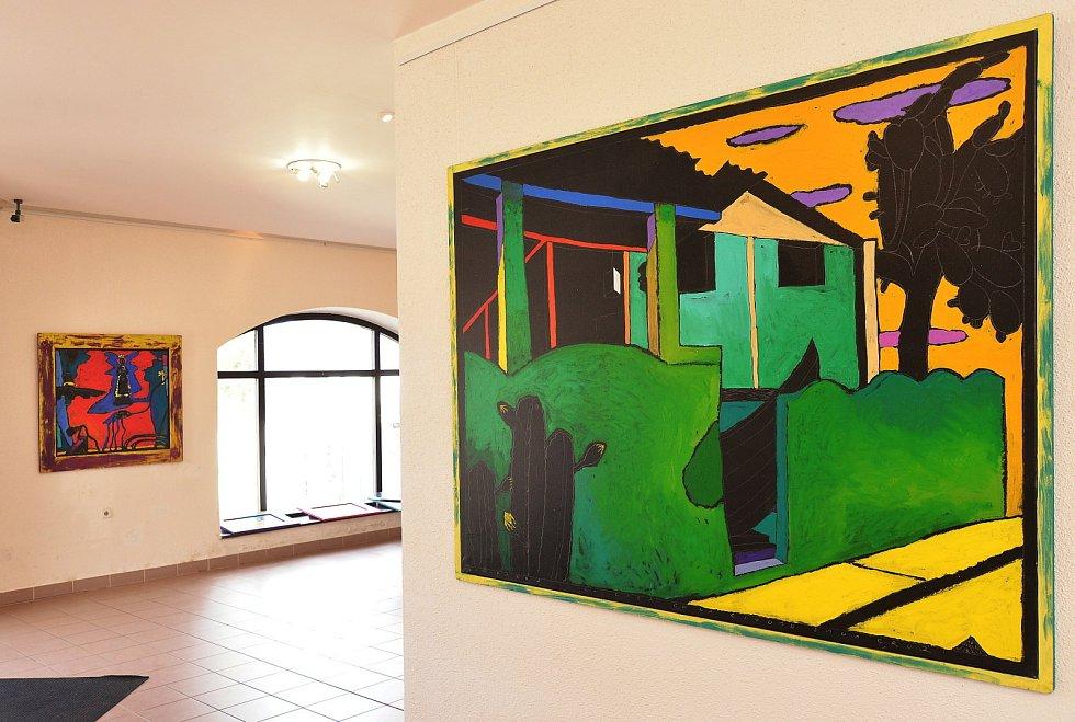 V letovické Galerii Pex vystavuje obrazy výtvarník Boris Jirků.