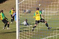 Blanenští fotbalisté remizovali s Ráječkem 1:1.