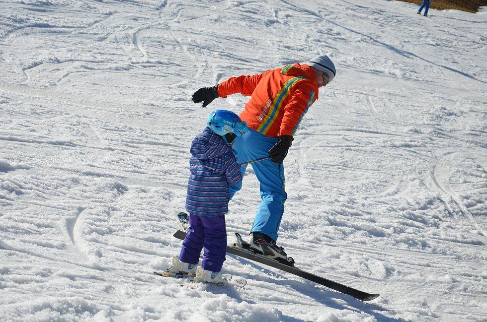 Ski areál v Hodoníně u Kunštátu. Ilustrační foto.