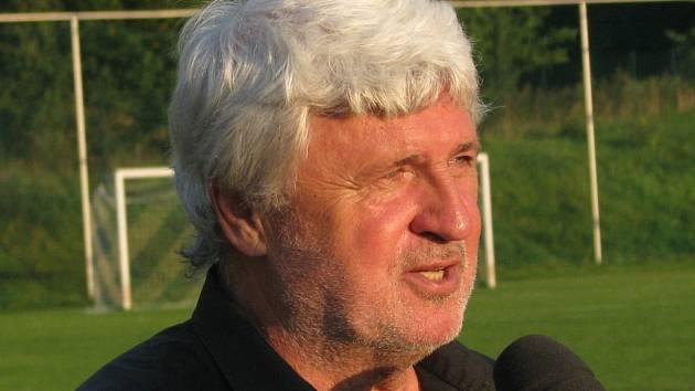 Trenér fotbalistů Blanska Karel Jarůšek.