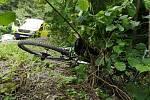 Tragická nehoda cyklisty u Černovic na Blanensku.
