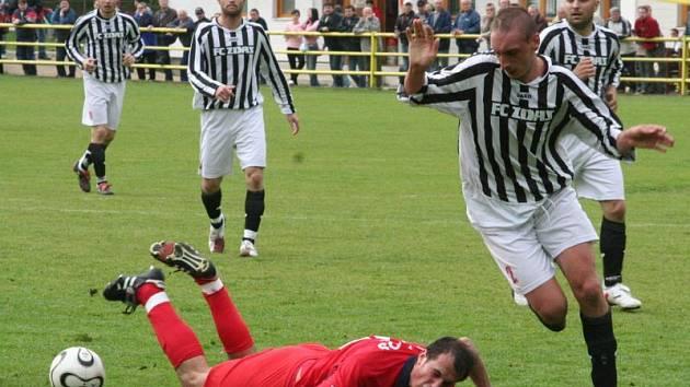 Blansko v řízném divizním utkání remizovalo se Žďárem 1:1.