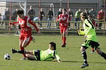 Fotbalisté Blanska remizovali ve druhém zápase jara s rezervou Olomouce.