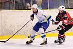 V okresním derby krajské hokejové ligy porazila Minerva Boskovice (v tmavých dresech) Dynamiters Blansko 7:2.
