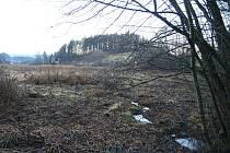 Na těchto pozemcích mají Kuničští podle územního plánu postavit poldr. Ten má obec ochránit před povodní.