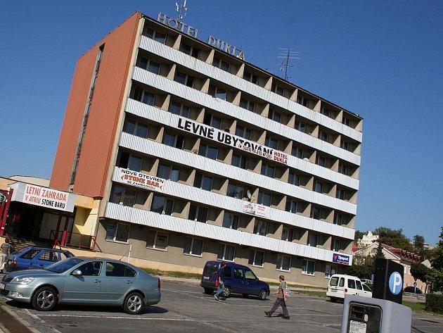 Hotel Dukla na náměstí Republiky v Blansku.