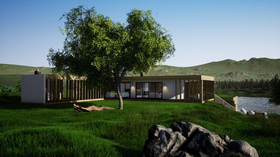 Dům jako součást krajiny v Míchově na Blanensku se stal Dřevěnou stavbou roku v kategorii Dřevěné budovy - návrhy, uspěl ve veřejném hlasování.