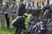 V Blansku položili věnce k památníku první světové války.