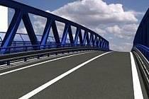 Vizualizace nového mostu v Blansku.