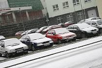Sníh v blanenských ulicích.