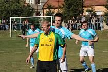 Fotbalisté Ráječka připravili na úvod jara svým fanouškům gólové hody. Rajhrad porazili 5:3.