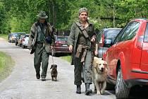 Zkoušky loveckých psů ve Křtinách.