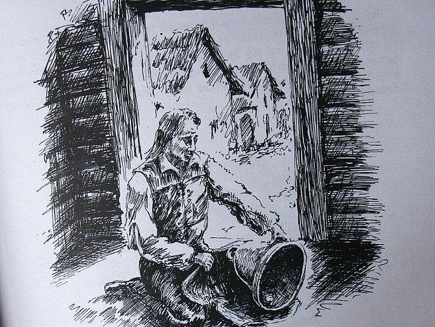Ilustrace je z knihy Zdeňka Peši a Josefa Višinky Pověsti městečka Olešnice a okolí.