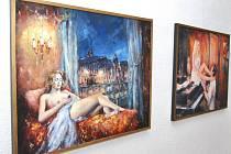 Výstava obrazů Stanislava Sedláčka v letovické Galerii Pex.