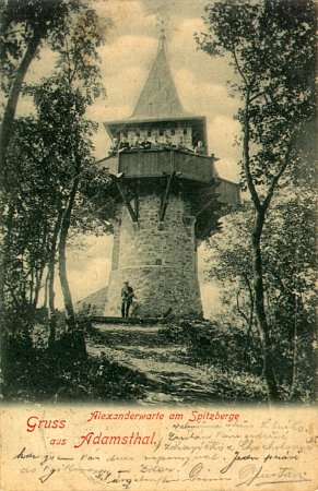 Rozhledna Alexandrovka kolem roku 1900.