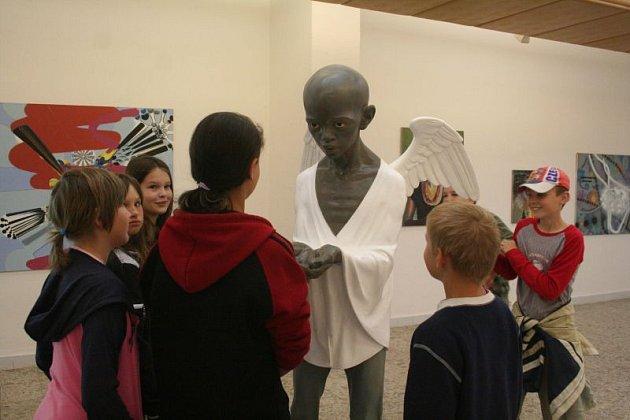 výstava Jiřího Davida v blanenské Galerii