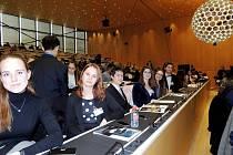 Zástupci boskovického gymnázia v Ženevě.