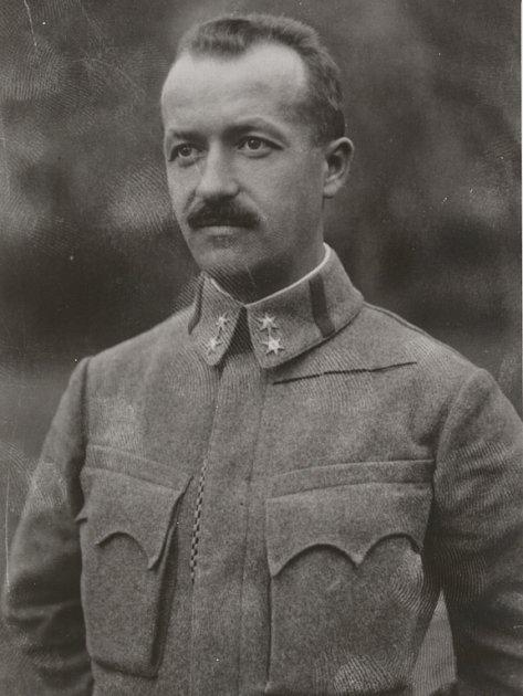 Sylvestr Voda jako nadporučík rakouské armády.