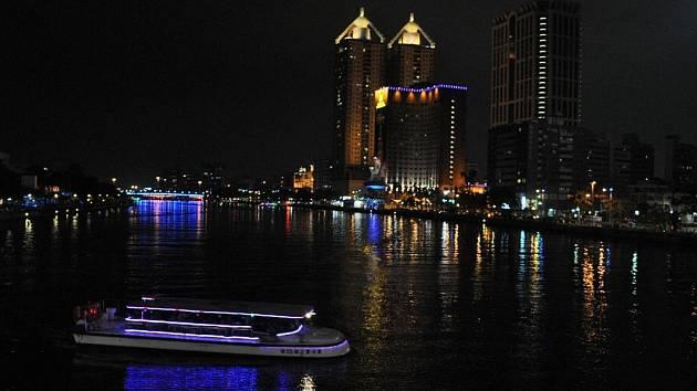 centrum města v noci