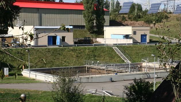 Areál čistírny odpadních vod v Blansku.