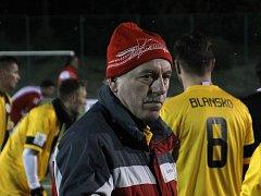Trenér výběru Blaneska v Lize malého fotbalu Jindřich Záboj.